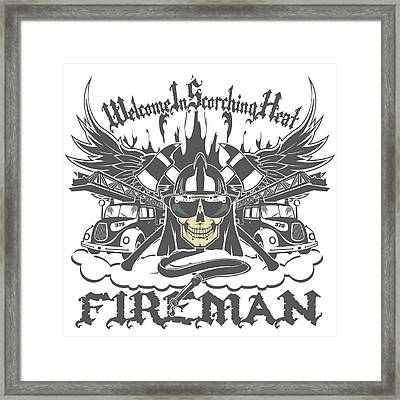 Welcome To Scorching Heat Framed Print