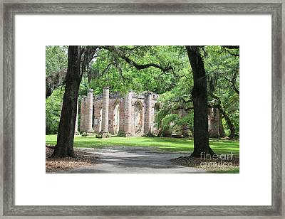Welcome To Sheldon Church Ruins Framed Print