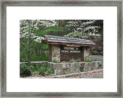 Welcome To Signal Mountain Spring Framed Print by Tom and Pat Cory