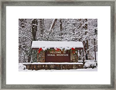Welcome To Signal Mountain Framed Print by Tom and Pat Cory