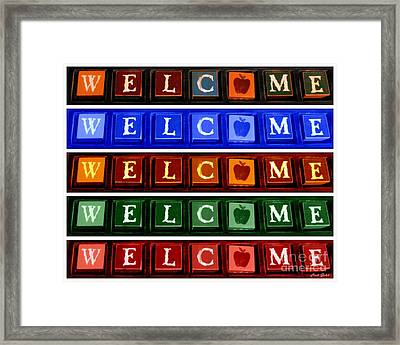 Welcome To The Block Framed Print by Linda Galok