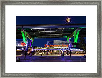 Welcome To The Fest Framed Print by CJ Schmit