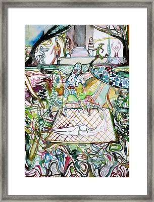 Welcome To The Garden Framed Print by Fabrizio Cassetta