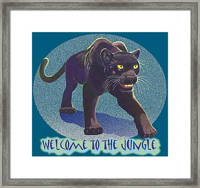 Welcome To The Jungle Framed Print