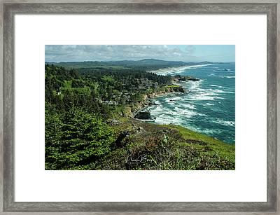 Welcome To The Oregon Coast Framed Print