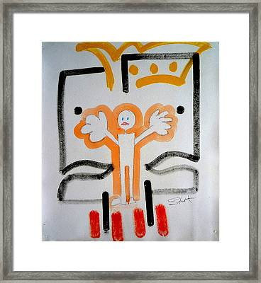 Framed Print featuring the painting welcome to the U N by Charles Stuart