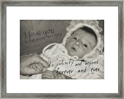 Welcome To The World Quote Framed Print by JAMART Photography