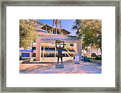 Welcome To Thunder Alley Framed Print