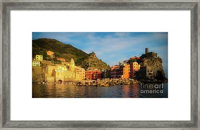 Welcome To Vernazza Framed Print