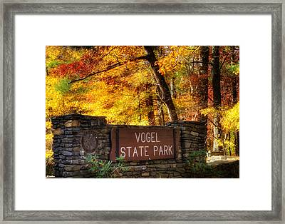 Welcome To Vogel State Park Framed Print