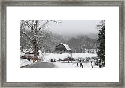 Welcome To Winter Framed Print by Benanne Stiens