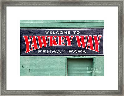 Welcome To Yawkey Way Framed Print