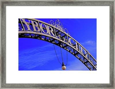 Welcome To Ybor City Framed Print