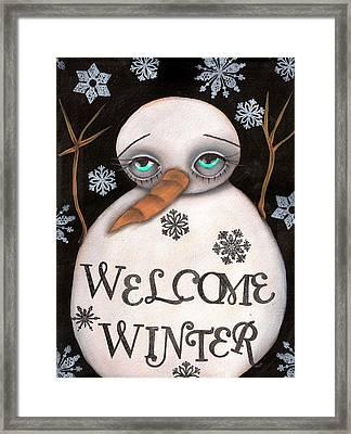Welcome Winter Framed Print