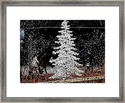 Welcome Winter Framed Print