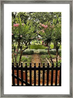 Welcoming Garden Framed Print