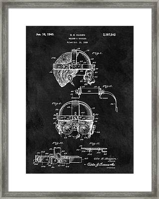 Welding Goggles Patent Framed Print