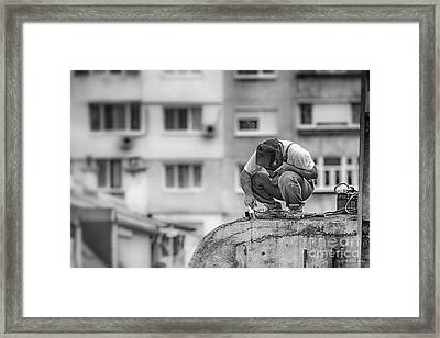 Welding Framed Print by Jivko Nakev