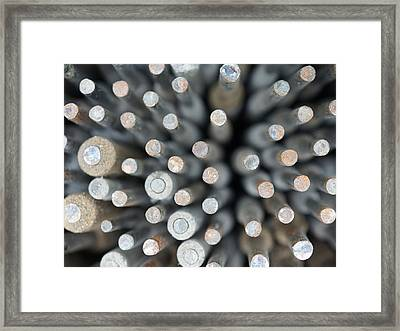 Welding Rods Framed Print by Ernie Echols
