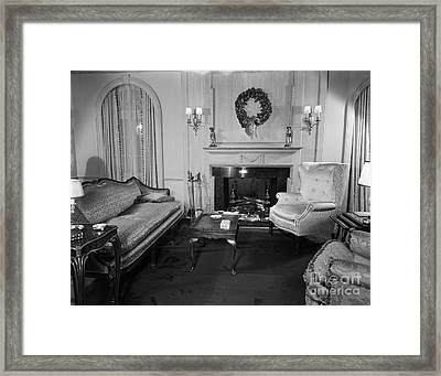 Well-appointed Living Room, C.1940s Framed Print