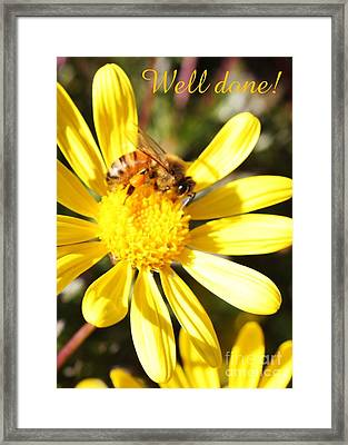 Well Done Card Framed Print