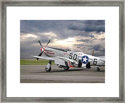 Well Earned Rest P-51 Framed Print by Gill Billington
