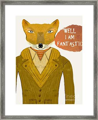 Framed Print featuring the painting Well I Am Fantastic by Bri B