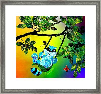 We'll Swing In The Sunshine Framed Print by Hanne Lore Koehler