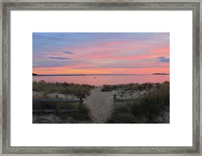 Wellfleet Harbor Sunset From Mayo Beach Framed Print by John Burk