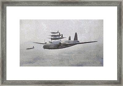 Wellington Bombers Wwii Framed Print by Esoterica Art Agency