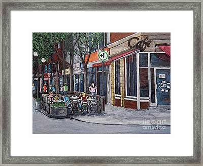 Wellington Street Verdun Framed Print by Reb Frost
