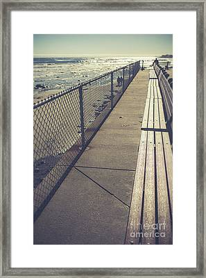 Wells Beach Maine Framed Print by Edward Fielding
