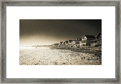 Wells Beach Maine Inrared Framed Print by Edward Fielding