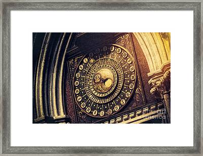 Wells Cathedral Astronomical Clock  Framed Print by Tim Gainey