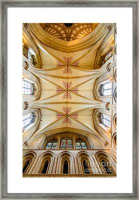Wells Cathedral Ceiling Framed Print by Colin Rayner