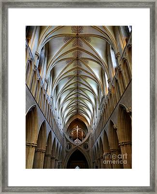Wells Cathedral Ceiling  Framed Print