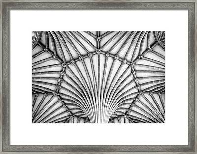Wells Cathedral Chapter House Vaulted Ceiling Framed Print