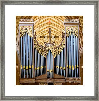 Wells Cathedral Organ Framed Print by Colin Rayner