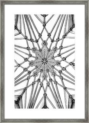 Framed Print featuring the photograph Wells Cathedral Lady Chapel Ceiling by Tim Gainey