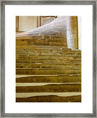Wells Cathedral Steps Framed Print by Colin Rayner