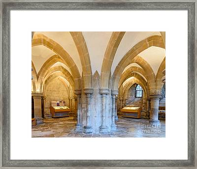 Wells Cathedral Undercroft Framed Print by Colin Rayner