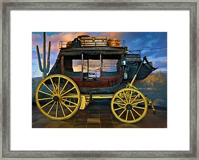 Wells Fargo And Co Stage Coach Framed Print by Richard Jenkins