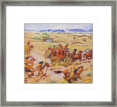 Wells Fargo Express Old Western Framed Print by Susan Leggett