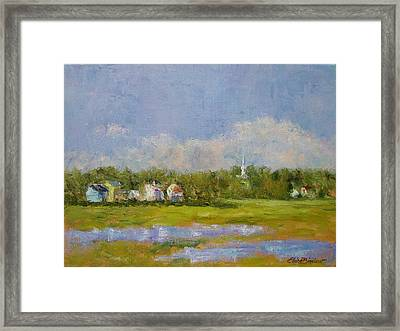 Wells  Maine Framed Print by Elaine Bigelow