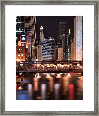 Wells Street Bridge Framed Print