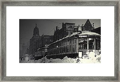 Wells Street Trolley Framed Print