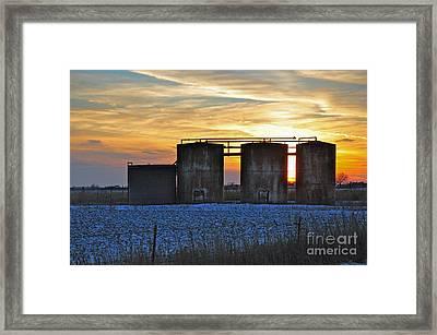 Wellsite Sunset Framed Print