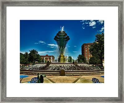 Wellspring Fountain - Council Bluffs Iowa Framed Print by Mountain Dreams