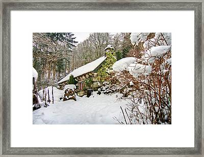 Welsh Cottage Framed Print by Richard Outram