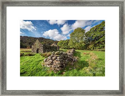 Welsh Cottage Ruin Framed Print by Adrian Evans